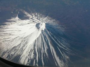 Mt. Fuji, a famous pimple-cano.